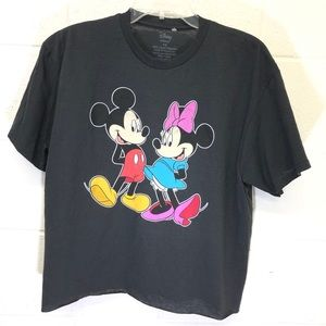 Mickey and Minnie Mouse cropped t-shirt